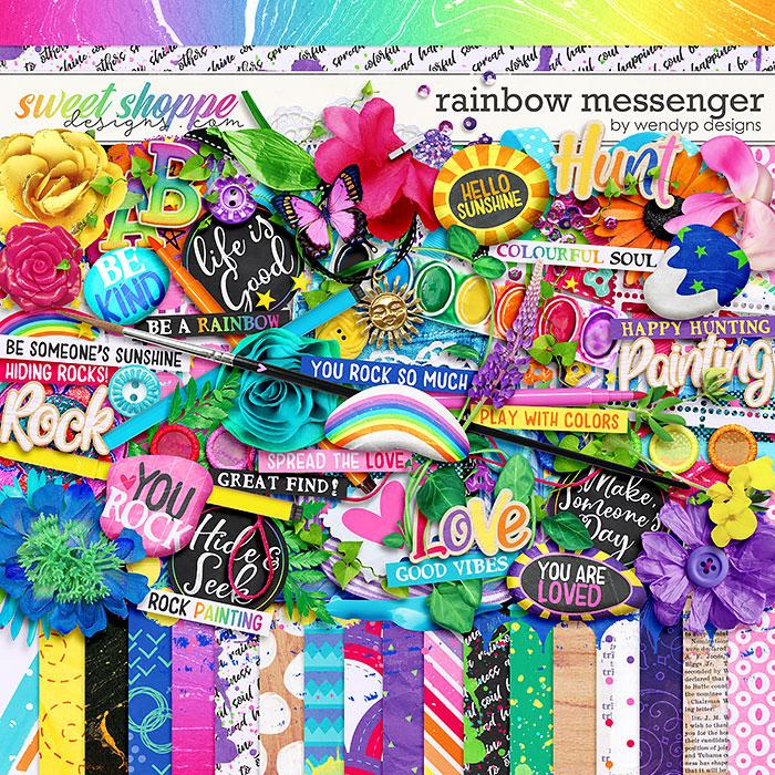 Rainbow Messenger by WendyP Designs