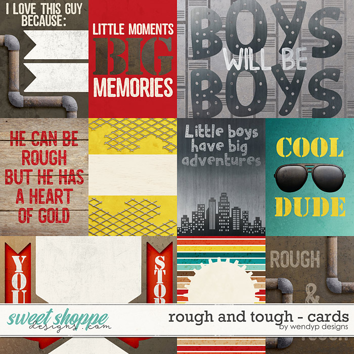 Rough & Tough - cards by WendyP Designs