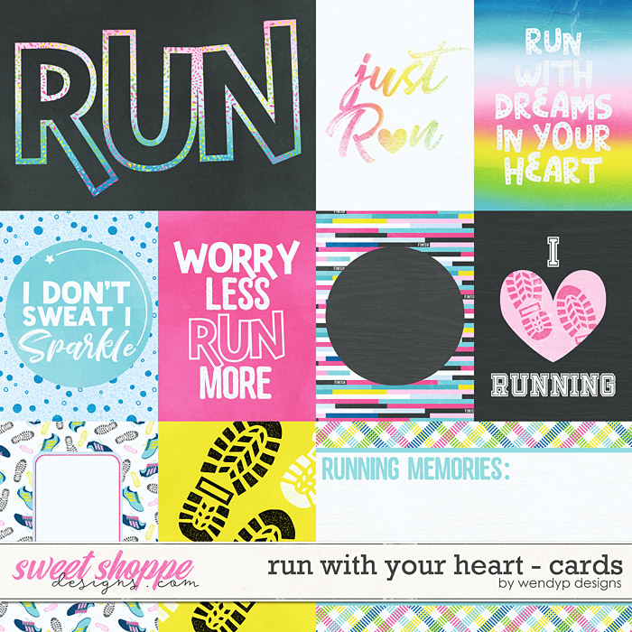 Run with your heart - cards by WendyP Designs