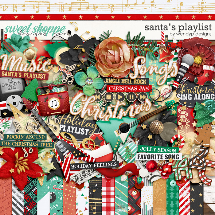 Santa's playlist by WendyP Designs