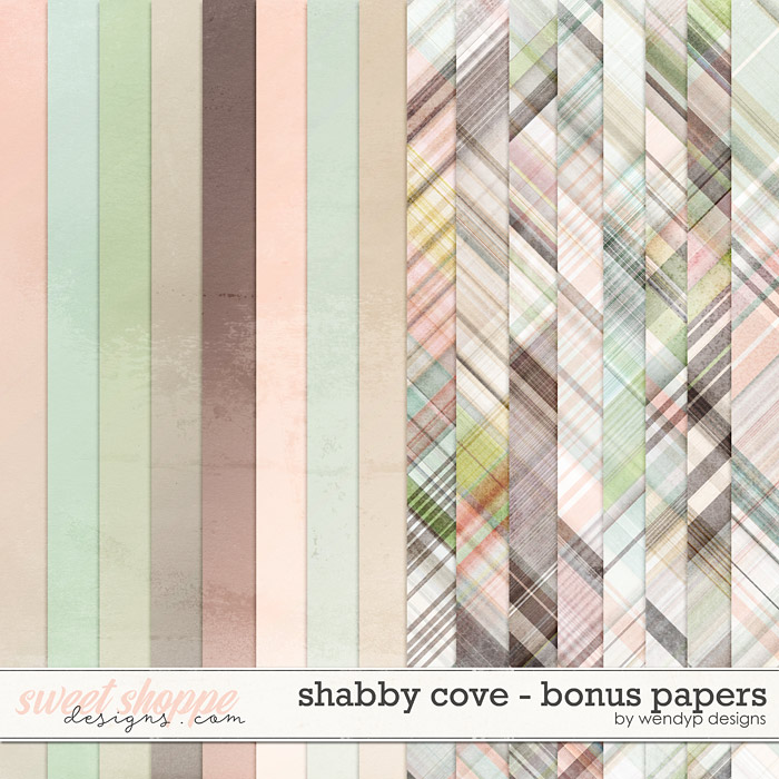 Shabby cove - bonus papers by WendyP Designs