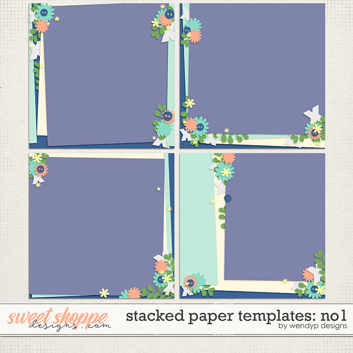 Stacked papers Templates: No.1 by WendyP Designs