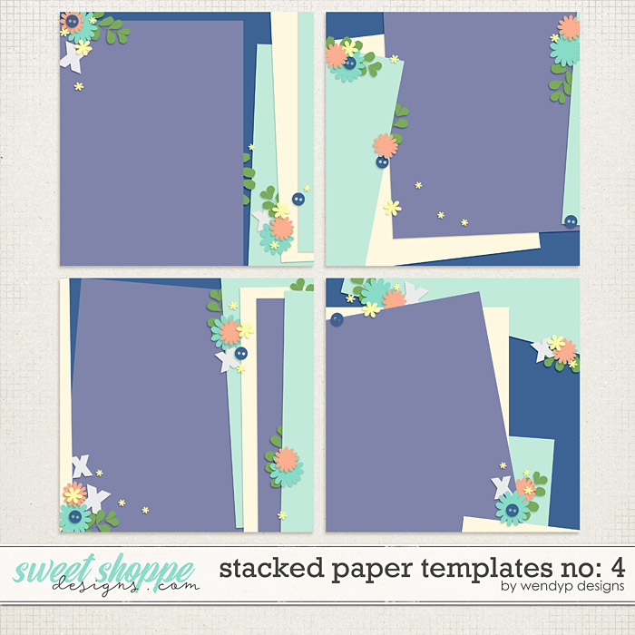 Stacked paper templates No:4 by WendyP Designs