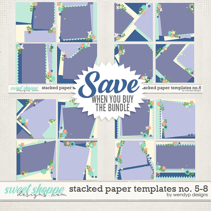 Stacked paper templates No: 5 - 8 by WendyP Designs