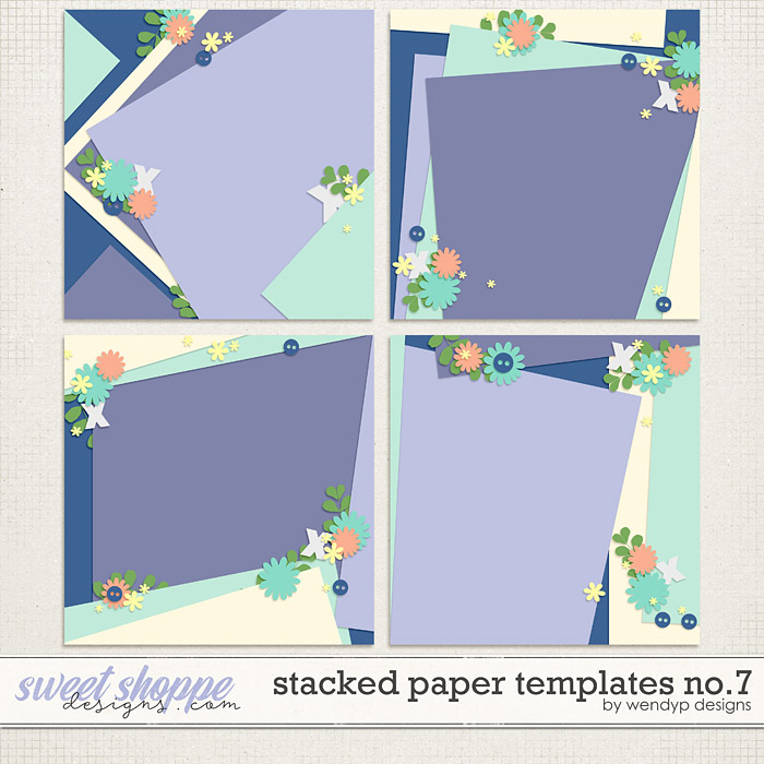Stacked paper templates No:7 by WendyP Designs