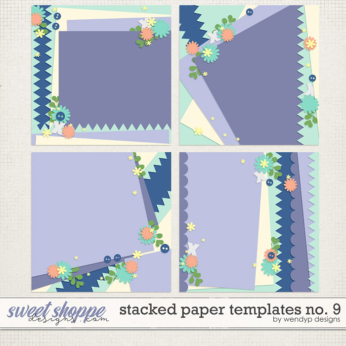 Stacked paper templates No:9 by WendyP Designs