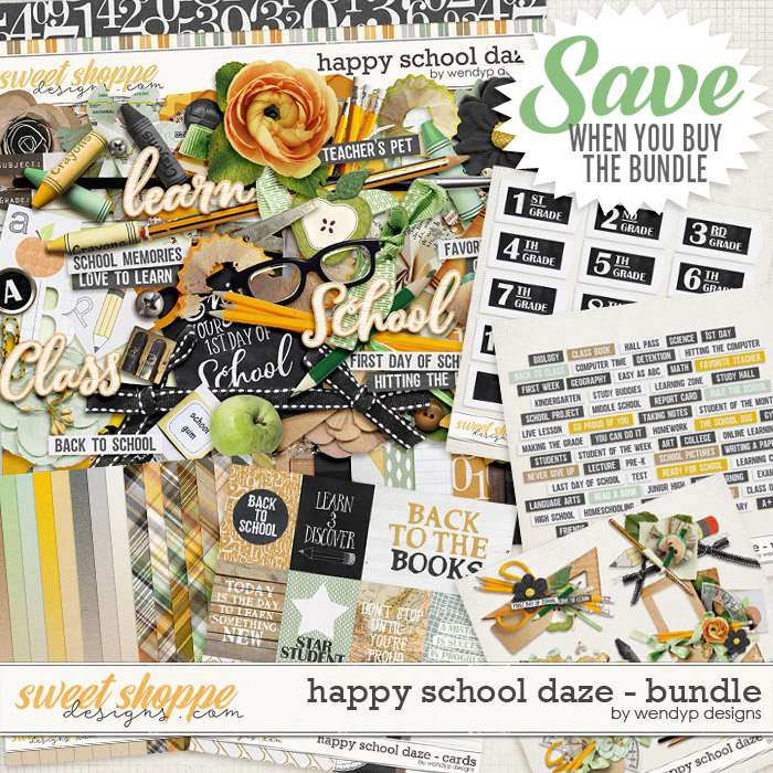 Happy school daze - bundle by WendyP Designs
