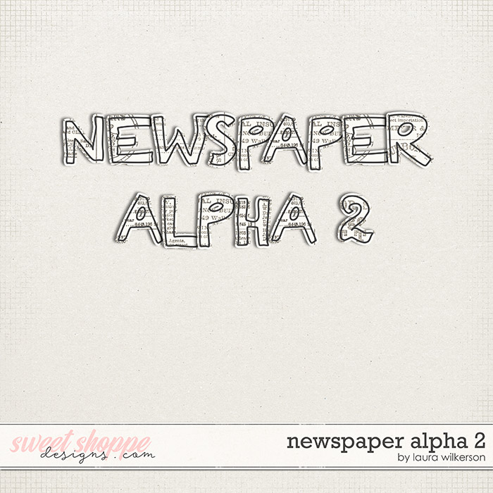 Newspaper Alpha 2 by Laura Wilkerson