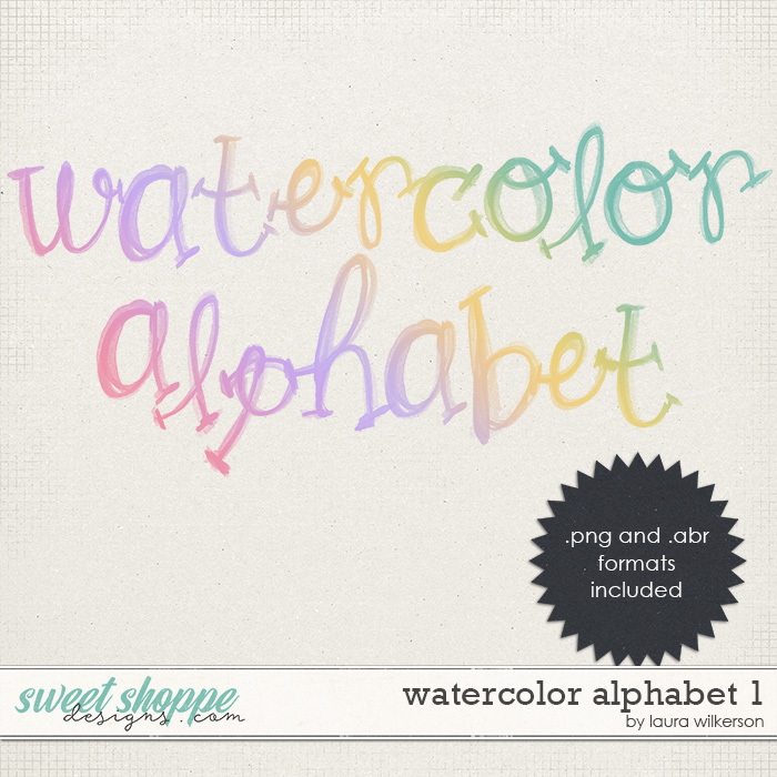 Watercolor Alphabet 1 by Laura Wilkerson