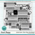 Cindy's Layered Templates - Interview: First Day of School by Cindy Schneider