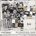 Life In Black & White Bundle by Libby Pritchett & Digital Scrapbook Ingredients
