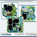 Cindy's Layered Templates - Trio Pack 19: Little Dinosaur by Cindy Schneider