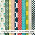 Believe In Yourself - Bonus Papers by Red Ivy Design