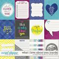 What I Love About You {cards} by Blagovesta Gosheva & WendyP Designs