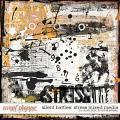 Silent Battles: Stress - Mixed Media by Studio Basic Designs & Rachel Jefferies