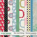 The Real Thing - Bonus Papers by Red Ivy Design