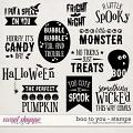 Boo To You | Stamps by Digital Scrapbook Ingredients