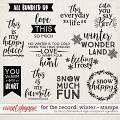 For The Record: Winter Stamps by Becca Bonneville & Digital Scrapbook Ingredients