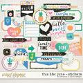 This Life: June - Stickers by Amanda Yi & Juno Designs