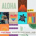 Around the world: Hawaii - cards by Amanda Yi and WendyP Designs