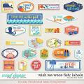 Wish We Were Fish Labels by Jady Day Studio