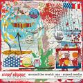 Around the world: USA - mixed media by Amanda Yi and WendyP Designs