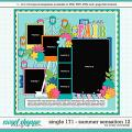 Cindy's Layered Templates - Single 171: Summer Sensation 12 by Cindy Schneider