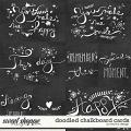 Doodled Chalkboard Cards by Red Ivy Design