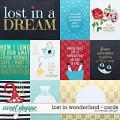 Lost in wonderland - cards by WendyP Designs