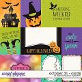 October 31 | Cards by Digital Scrapbook Ingredients