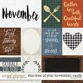 This Time of Year November: Cards by Grace Lee