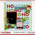 Cindy's Layered Templates - Christmas Single 21: HO HO HO by Cindy Schneider