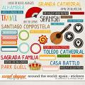 Around the world: Spain - Stickers by Amanda Yi & WendyP Designs