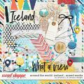 Around the world: Iceland - Mixed Media by Amanda Yi & WendyP Designs