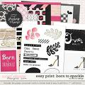 Easy Print: Born To Sparkle by Red Ivy Design