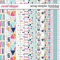 Scrap Simple: Birthday Papers by Janet Phillips