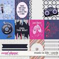 Music is life - cards by WendyP Designs