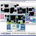 Cindy's Layered Templates - Double the Memories 2nd Quarter Bundle by Cindy Schneider