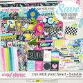 Run with your heart - bundle by WendyP Designs