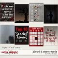Blood & Gore: Cards by lliella designs