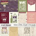 Wine A Little, Laugh A Lot Cards by LJS Designs