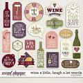 Wine A Little, Laugh A Lot Words by LJS Designs
