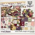 Wine A Little, Laugh A Lot  Bundle by LJS Designs