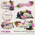 Blessings: Sisterhood Word Art by Meagan's Creations