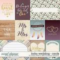 Boho Wedding  - cards by Digital Scrapbook Ingredients & WendyP Designs