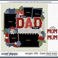 Cindy's Layered Templates - Single 196: Best Dad Ever by Cindy Schneider