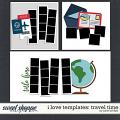 I LOVE TEMPLATES: TRAVEL TIME by Janet Phillips