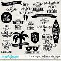 This Is Paradise | Stamps by Digital Scrapbook Ingredients