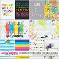 Splashed With Color Cards by Ponytails Designs & Studio Basic