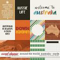 Around the world: Australia - cards by Amanda Yi & WendyP Designs